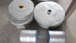 How i made my concrete plates & dumbbells
