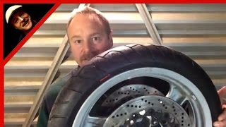 Change And Balance A Motorcycle Tire With Minimal Tools | Zip Ties