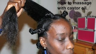 HOW TO MASSAGE WITH BLACK CASTOR OIL. TO THE WAIST EPISODE  ONE