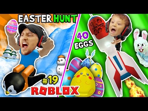ROBLOX EGG HUNT 2017 40 LOST EGGS FGTEEV Happy Easter Bunny Challenge Game