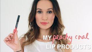 Favorite Peachy Coral Lip Products / ttsandra