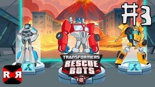 Transformers Rescue Bots: Disaster Dash - Hero Run - Volcano Lava - Hard Mode Gameplay Part 3