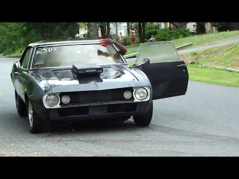 BAD ASS 1967 Camaro pro street tubbed out Nitrous start up * CRAZY CAM * INSANE EXHAUST