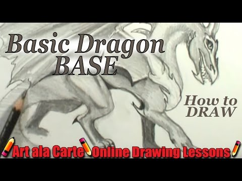 How to draw a Dragon base