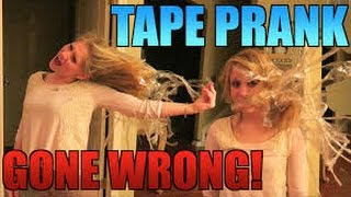 CRAZY TAPE PRANK GONE WRONG !!! - PRANKS ON GIRLFRIEND