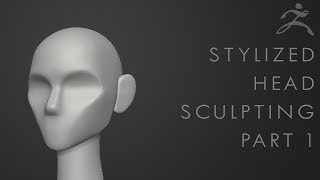 How to sculpt a stylized head in Zbrush - Tutorial Part 1