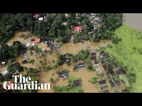 Xxx Mp4 Aerial View Shows Scale Of Monsoon Flooding In Kerala India 3gp Sex