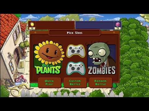 Plants vs Zombies Competitive 2 Player Xbox 360 HD 1080p