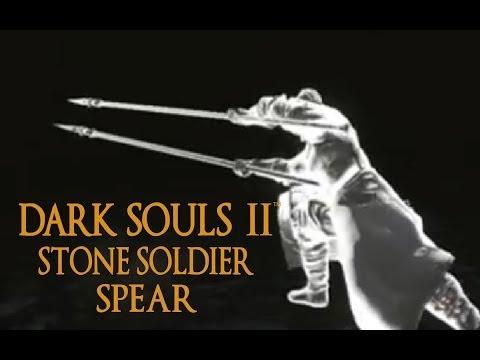 Dark Souls 2 Stone Soldier Spear Tutorial (dual wielding w/ power stance)