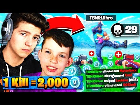 1 KILL 2 000 FREE V BUCKS Fortnite Battle Royale with my Little Brother