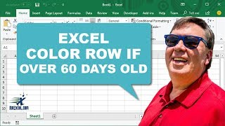 Learn Excel - Highlight Entire Row if Over 60 Days Old - Podcast 1906