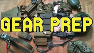 DesertFox Airsoft: Gear Preparation.  Quick insight into Jet's gear.