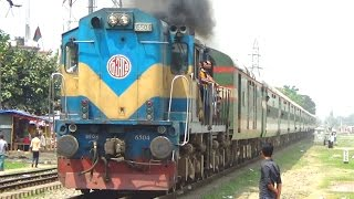 Silk City Express Train Of Bangladesh Railway Entering Tongi Railway Station