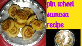 Holi special pin wheel samosa -how to make aloo bhakarwadi recipe