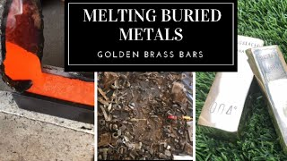 Trash To Treasure Dug Up Scrap Metal To Golden Brass Bullion