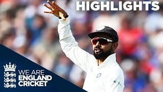 Kohli Runs Out Root To Spark England Collapse   England v India 1st Test Day 1 2018 - Highlights