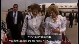 لقطات نادرة للرئيس الراحل صدام حسين واسرتة.flv
