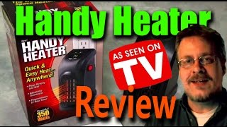 handy heater  wall outlet space heater review  does it work