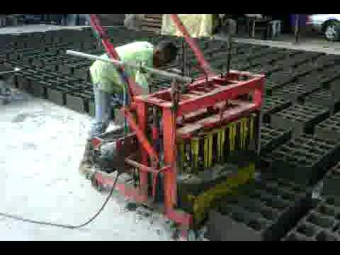 bloques de cemento hechos en 24 segundos
