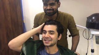 Cute Boy Head Massage By Indian Barber Aashu Shaikh (Gulzar) | ASMR