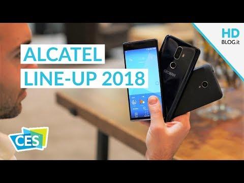 ALCATEL SERIE 1, 3 e 5 in mostra al CES 2018