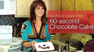 Gluten free Sugar free 60-second Chocolate Cake - kimTV