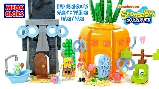 Mega Bloks SpongeBob SquarePants Bad Neighbors Set Sandy & Patrick Wacky Packy Kids Toys