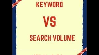 Keyword Vs Search Volume - SEO Bangla Video By TOHA