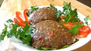 كباب محشي مشوي بالفرن - فطورنا تركي  Kebab in Oven