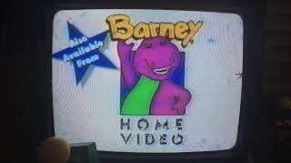 Closing to Riding in Barney's Car 1995 VHS (Homemade Copy)