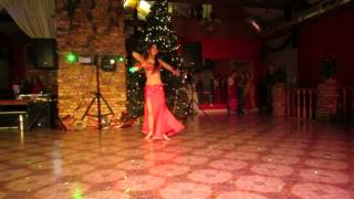 Liva Krauze dancing at Christmas party, choreography by Yousry Sharif