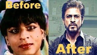 Shahrukh Khan Face and hair Transformation || शाहरुख़ ख़ान  के चेहरे परिवर्तन  DEEWANA से  RAEES tak