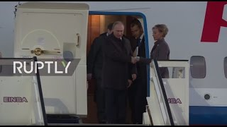 LIVE: Putin lands in Berlin for Normandy Four talks