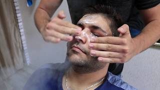 ASMR Turkish Barber Face Head And Body Massage 47