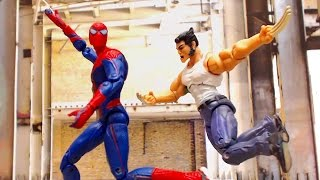 Spiderman Captain America Thor Stop Motion Animation Video (Part 3) w toys
