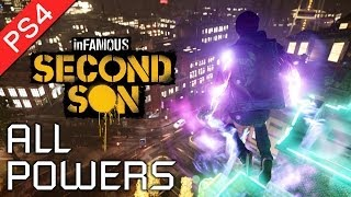 Infamous: Second Son ★ All Powers Showcase / All Powers and Abilities 【1080p HD】