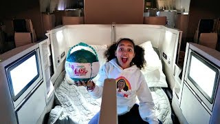 LOL PEARL SURPRISE! First Class Double Bed Airplane Flight | Toys AndMe