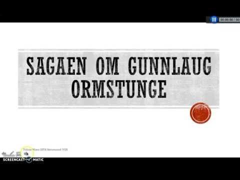 Gunnlaug Ormstunge presentasjon