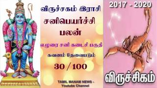 viruchigam Rasi Sani Peyarchi Palangal 2017-2020  in tamil | விருச்சகம் இராசி சனிபெயர்ச்சி பலன்கள்
