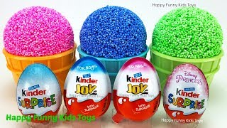 Play Foam Ice Cream Cups and Kinder Surprise Eggs Fun for Kids