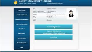 Amity University Online Demo session