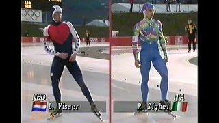 Winter Olympic Games Albertville 1992 - 1500 m Sighel - Visser