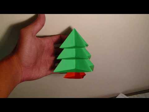origami modular christmas tree instructions