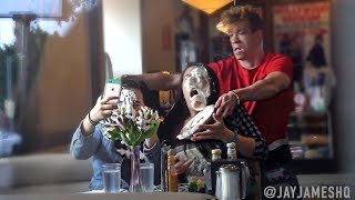 PIE-ING STRANGERS IN THE FACE PRANK (FIGHT HAPPENS) II JayJames