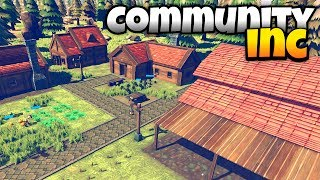 Community Inc - Base Building and Tree Chopping! - Community Inc Alpha Gameplay