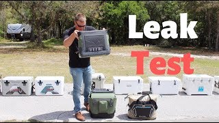 Waterproof Coolers- Leak Testing Budget, Roto Molded & Soft Sided Coolers