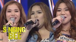 The Voice of the Philippines Season 1 finalists Klarisse, Radha and Morissette