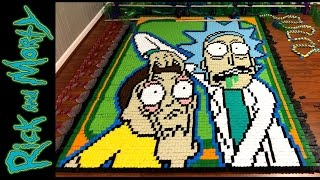 Rick and Morty (In 18,365 Dominoes!)