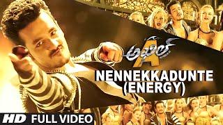 Nennekkadunte (Energy) Full Video Song || Akhil-The Power Of Jua || AkhilAkkineni,Sayesha