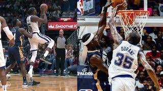 Kevin Durant 6 Blocks! Loses a Shoe, Scores Block Party! Warriors vs Pelicans 2017-18 Season